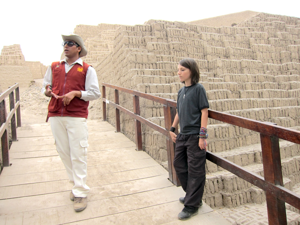The Huaca Pucllana Ruins in Lima