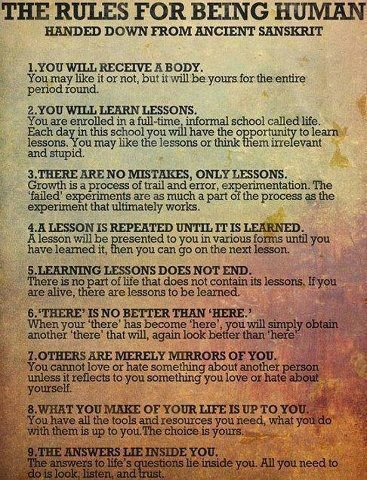 9 Rules for Being Human