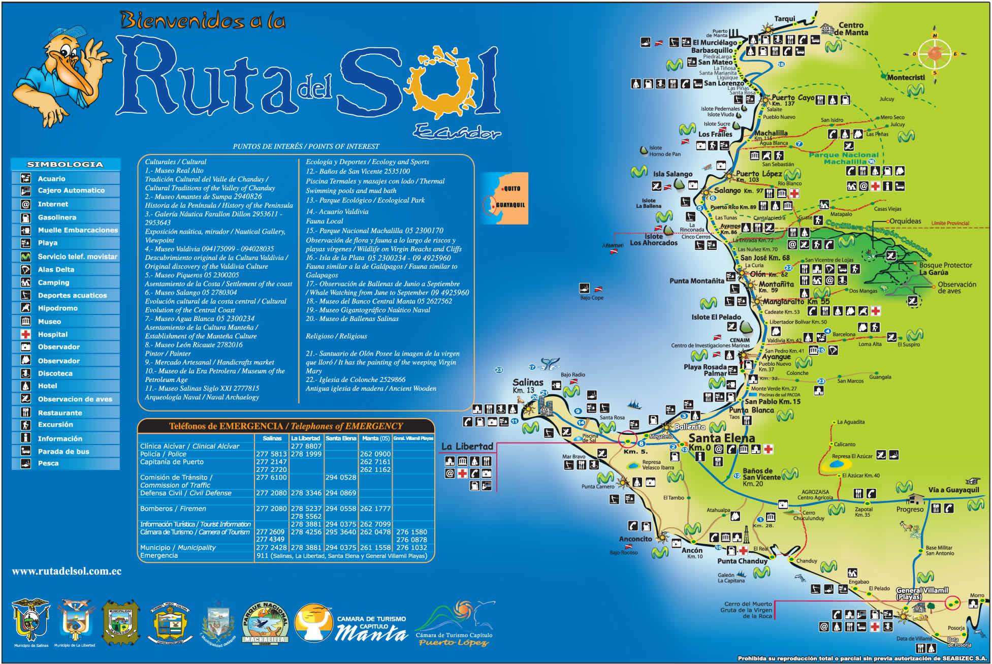 Map of the Ruta del Sol Click for a larger view