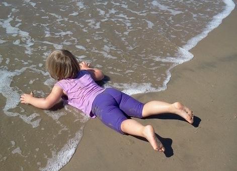 Julie 9.2013 beach in Claifornia