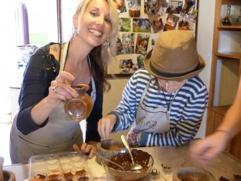 Making chocolate at the Choco Museo